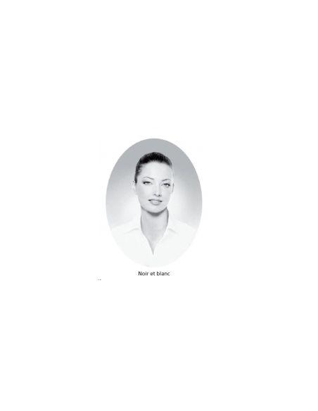 Médaillon ovale 6x8 cm noir et blanc photo funéraire porcelaine pour portrait