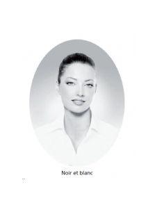 Médaillons ovale 9x12 cm noir et blanc photo funéraire porcelaine pour portrait