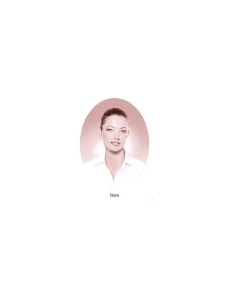 Médaillon ovale 6x8cm sépia photo funéraire porcelaine pour portrait