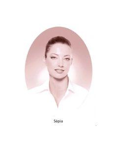 Médaillon ovale 11x15cm sépia photo funéraire porcelaine pour portrait
