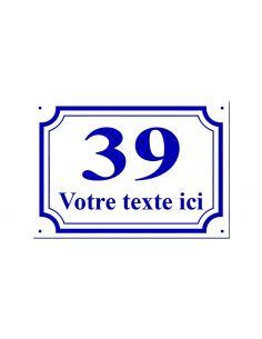 Numéro de maison 15x20cm en plastique, épaisseur 1,6 mm, couleurs aux choix