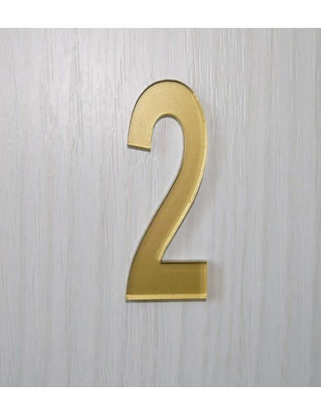 Numéro de porte 3cm en plexi épaisseur 3mm