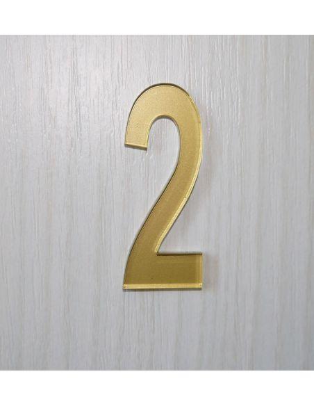Numéro de porte 6cm en plexi épaisseur 3mm