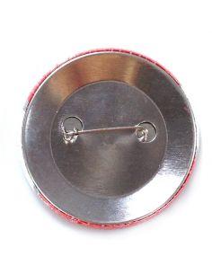 Badge rond dia 59 mm avec épingle