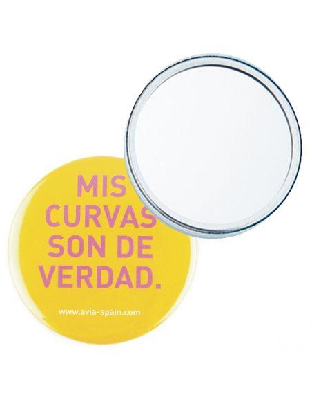 Miroir de poche personnalisé rond dia 59mm