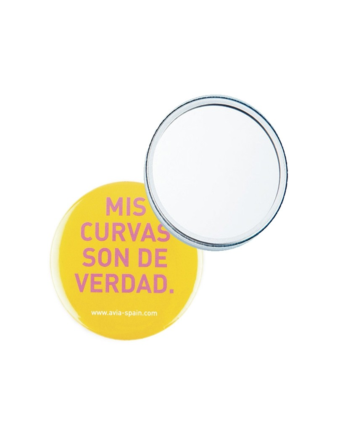 miroir de poche personnalisable