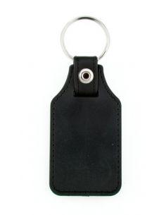 Porte clé  en cuir et métal personnalisé