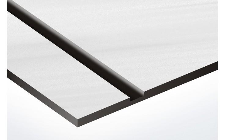 plaque acier brossé texte noir