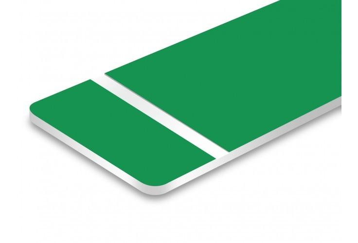 plaque vert pomme texte blanc