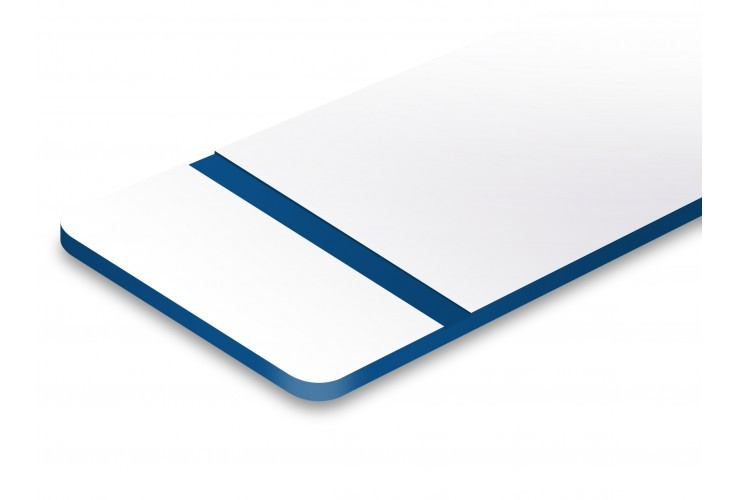 plaque blanc texte en bleu