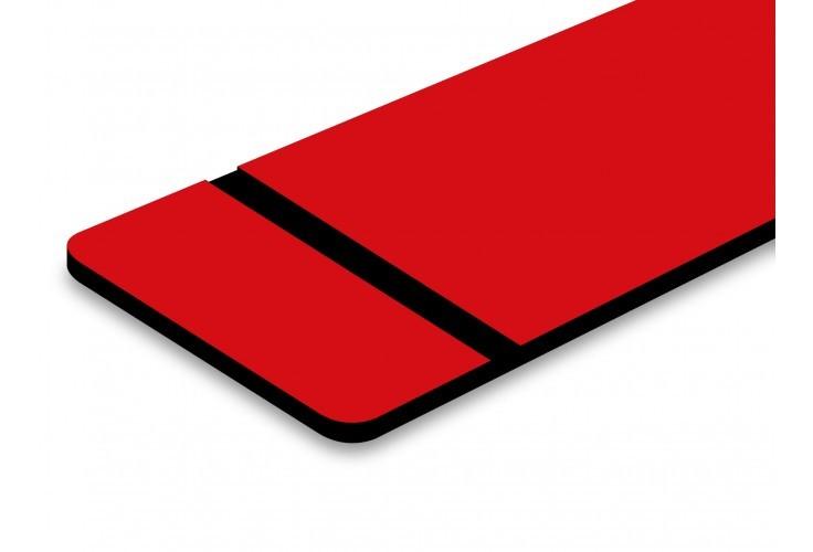 plaque rouge texte noir